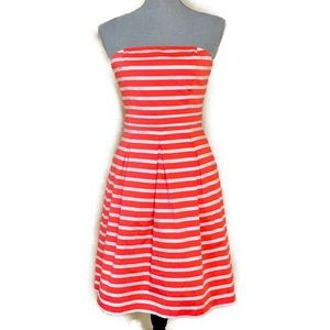 Strapless Striped Dress with Pockets